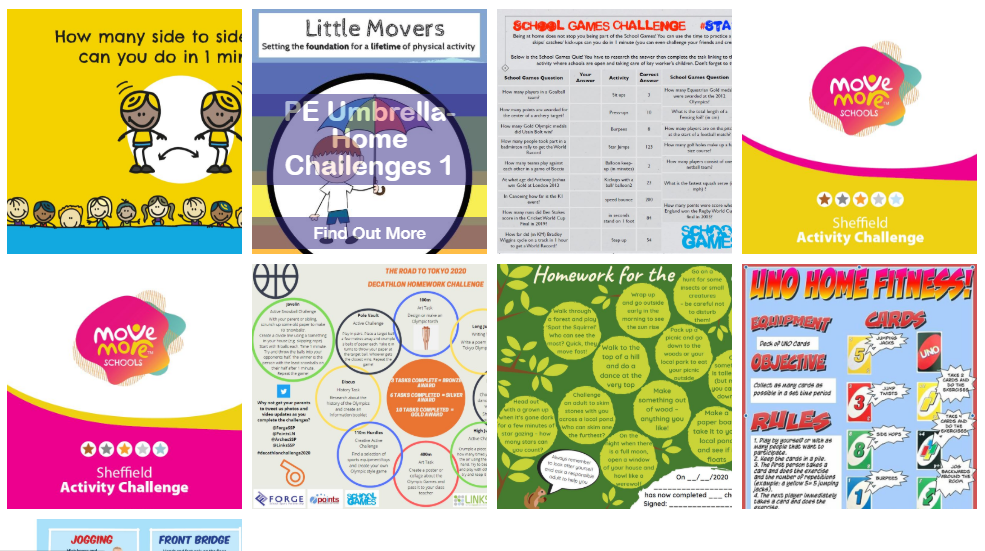 Active Resources for Home Learning! #StayInWorkOut #StayHomeStayActive