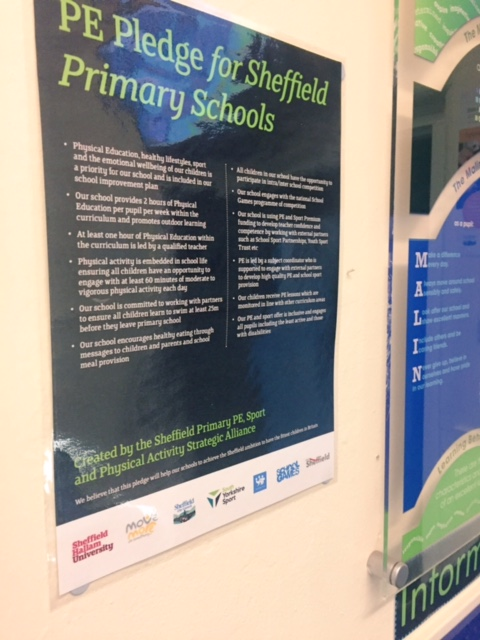 Primary PE Pledge for Sheffield
